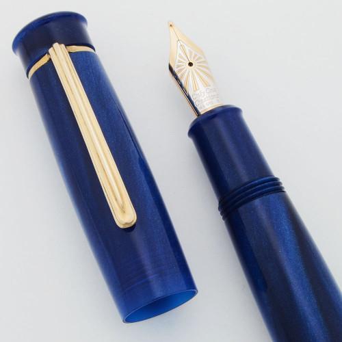 Penscapes Fountain Pen - Blue, Broad Bock 14k Nib (Near Mint, Works Well)