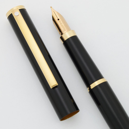 Sheaffer Fashion II Fountain Pen - Model 286 Black, Medium GP Nib (New Old Stock, Perfect)
