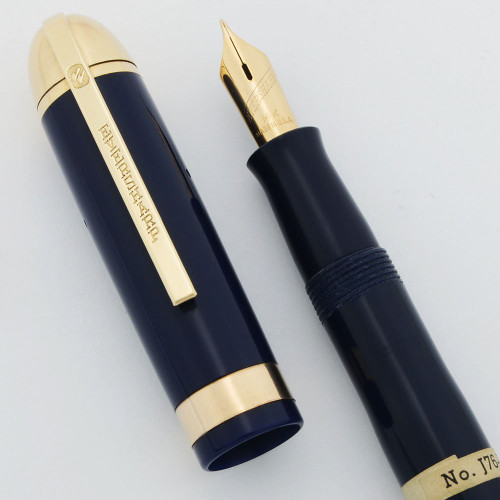 Eversharp Skyline Demi J76 Fountain Pen - Gold Derby & Wide Band, 14k Manifold Nibs (New Old Stock, Restored)