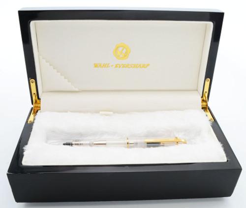 Wahl-Eversharp Skyline Demonstrator Fountain Pen (Modern) - Clear, 14k Medium Nib (Near Mint in Box, Works Well)
