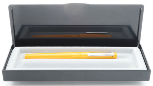 Conklin (Modern) Victory Fountain Pen - Yellow, Medium Steel Nib (Near Mint in Box, Works Well)