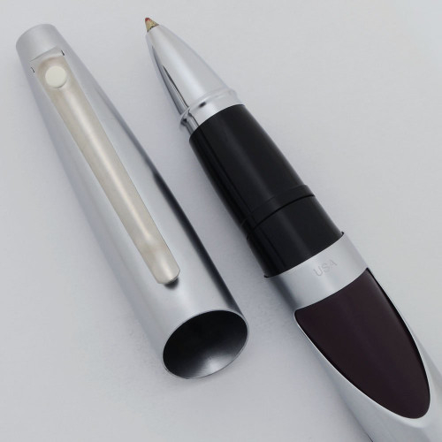 Sheaffer Intrigue Rollerball Pen (2000s) - Aubergine with Chrome Trim (Near Mint, Works Well)