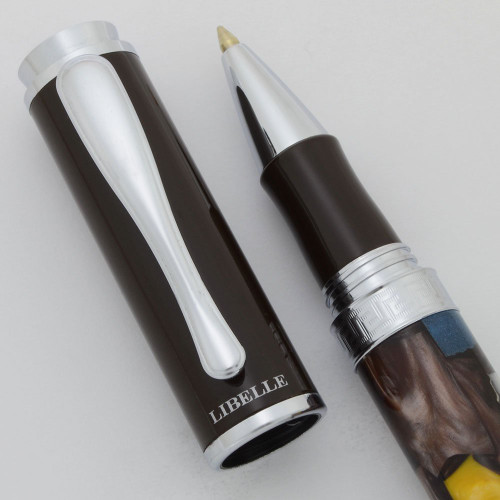 Libelle Nature Rollerball Pen (2000s) - Mosaic Platinum (Excellent +, Works Well)