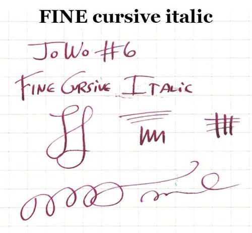 JoWo #6 Gold Tone Steel Fine Nib - Cursive Italic