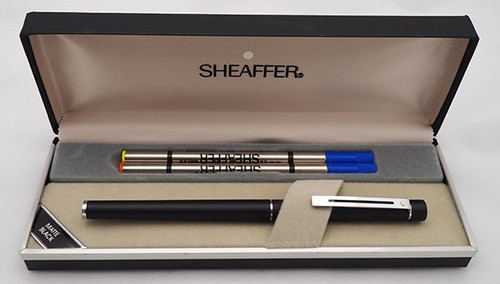 Sheaffer TARGA 1002S Slim Rollerball Pen - Matte Black, Chrome Trim (New Old Stock in Box)