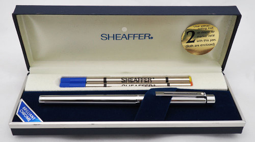 Sheaffer TARGA 1000s Slim Rollerball Pen - Chrome Lined Pattern (New Old Stock in Box)