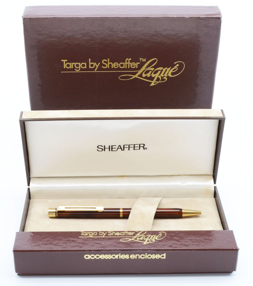 Sheaffer TARGA 1030 Ballpoint Pen - Laque Thuya Ronce (New Old Stock in Box, Works Well)