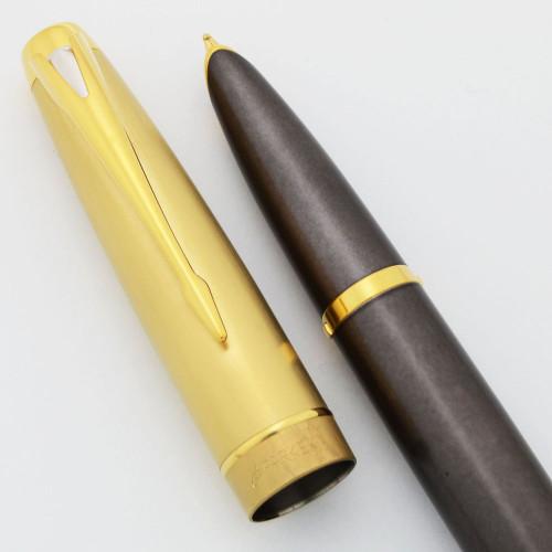 Parker 100 Fountain Pen (2004) - Smoke Bronze GT, 18K Medium Nib (Near Mint,  Works Well)