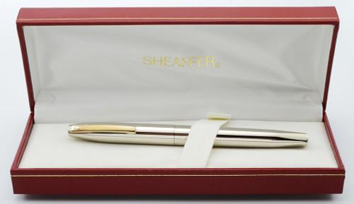 Sheaffer Triumph Imperial (1990s) Fountain Pen - Palladium Plated, Gold Trim, Fine GP Nib (New Old Stock in Box)