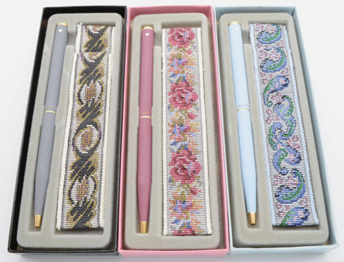 Sheaffer Fashion I Ballpoint Pen w Tapestry Sleeve - Slim Model w No Clip, Various Matte Colors GT (New Old Stock in Box, Perfect)