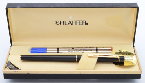 Sheaffer TARGA 1003S Slim Rollerball Pen - Matte Black, Gold Trim (New Old Stock in Box)
