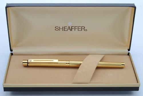 Sheaffer Targa 1005s Rollerball Pen - Gold Fluted (New Old Stock in Box)