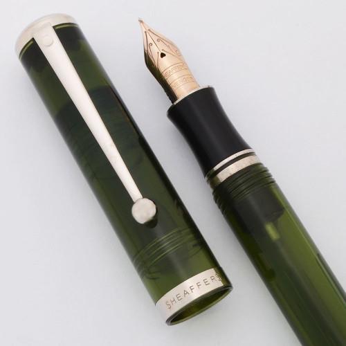 Sheaffer Levenger Connaisseur Fountain Pen (1998) - Green, Medium Sheaffer/Levenger 14k Nib (Excellent, Works Well)