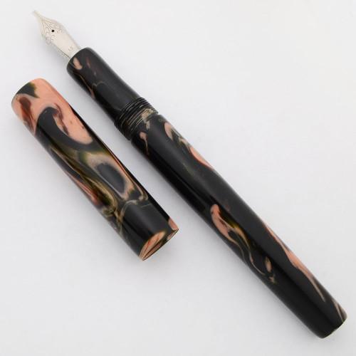 "PSPW Prototype Fountain Pen - ""Midnight Camoflauge"" Alumilite w PSP Emblem, Oversize, No Clip, #6 JoWo Nibs (New)"