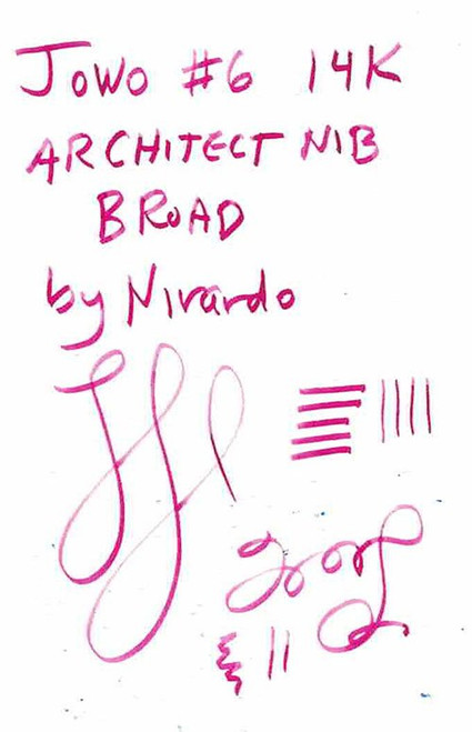 JoWo #6 Compatible 14k Broad Nib - Architect Grind