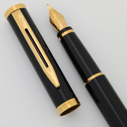 Waterman Preface (1990s) - Black Lacquer, 18k Medium Nib (Excellent, Works Well)