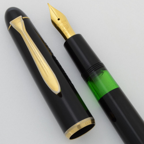 Pelikan 120 Fountain Pen  (1950-60s)- Black,  Piston Filler, GP Extra Fine Nib (Excellent +, Works Well)