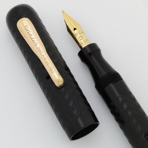 Conklin Crescent 20P Fountain Pen - BCHR, Full Flex Fine #2 14k Nib (Excellent, Restored)