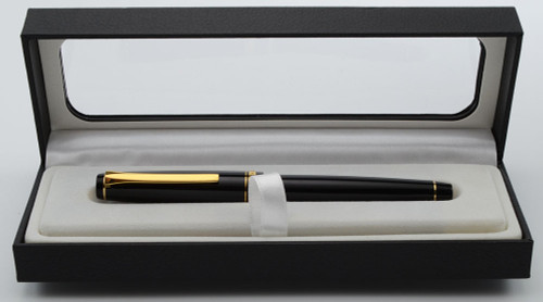 Pilot Falcon Resin Fountain Pen - Black, Gold Trim, 14k SF Spencerian (Excellent in Box, Works Well)
