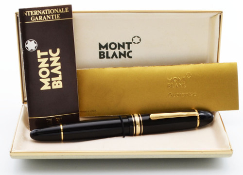 Montblanc Meisterstuck 149 Fountain Pen - Basic Black, Piston Fill, 18c Extra Fine Nib (Excellent + in Box, Works Well)