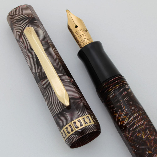 Wahl Doric Junior Fountain Pen (1st Gen.)- Purple Shell, Vac-Fil, Medium Manifold Nib (Excellent, Restored)