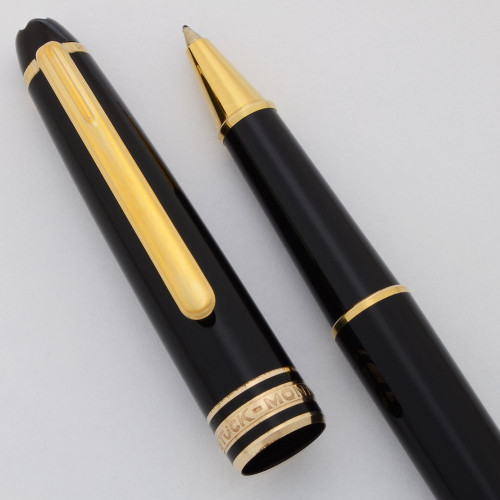 Montblanc Meisterstuck Classique Rollerball Pen - Black, Gold Plated Trim (Excellent  Works Well)