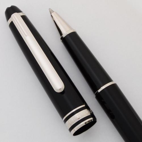 Montblanc Meisterstuck Classique Rollerball Pen - Black, Platinum Trim (Near Mint, Works Well)