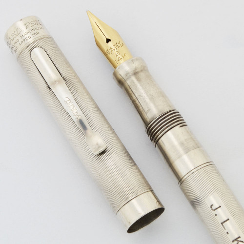 Wahl #2 Tempoint Fountain Pen - Sterling Silver, Lever Filler, 14k Gold Flexible Fine (Very Nice, Restored)