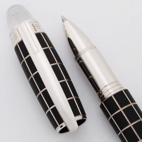 Montblanc Starwalker Rollerball Pen - Black Rubber Grid, Platinum Trim (Near Mint in Box, Works Well)