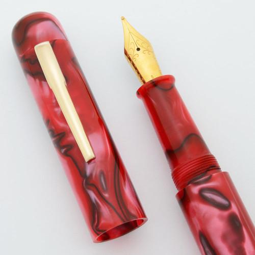 Ranga Acrylic 4C Fountain Pen - Rounded Oversize, German Nibs, Cartridge/Converter/Eyedropper