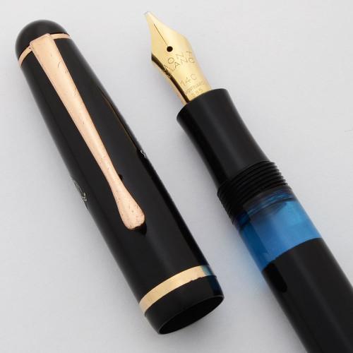 Montblanc 344G Fountain Pen (1950s) - Basic Black, 14k Flexible BB Nib (Excellent, Works Well)