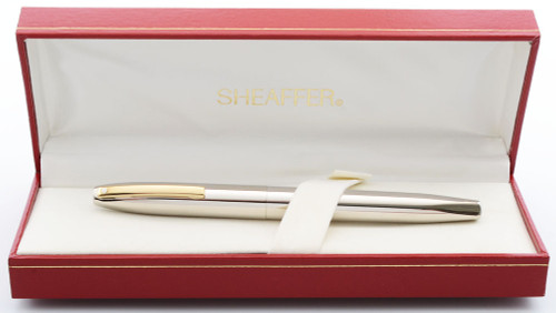 Sheaffer Triumph Imperial (1990s) Rollerball Pen - Palladium Plated, Gold Trim (New Old Stock in Box)