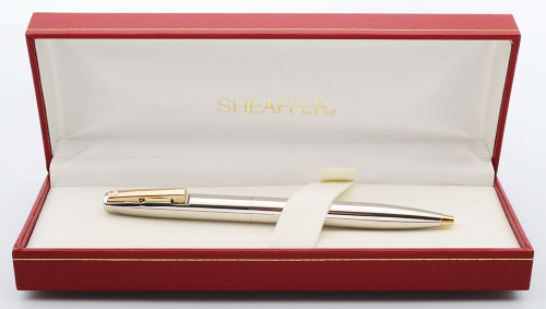 Sheaffer Triumph Imperial (2780) Ballpoint Pen (1990s) - Smooth Palladium w/ GP Trim  (New Old Stock, In Box)
