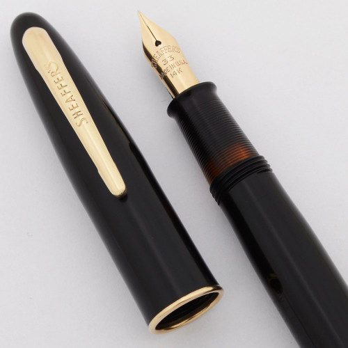Sheaffer Craftsman Fountain Pen (1950s)  - Black, Touchdown, Fine 14k #33 Nib (Excellent, Restored)