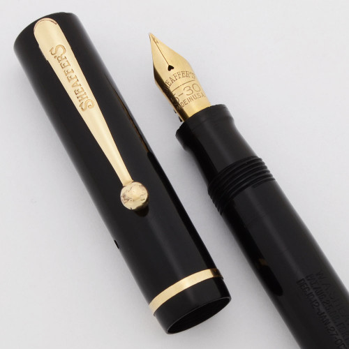 Sheaffer 5-30 Flat Top (1930s) - Black, Junior Size, Lever Filler,  Fine Nib (Very Nice, Restored)