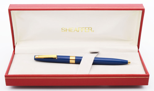Sheaffer Triumph Imperial 2557 (1990s) Ballpoint Pen - Blue w Gold Trim (New Old Stock in Box, Works Well)