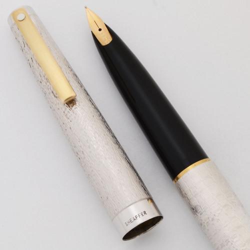 Lady Sheaffer 925 Fountain Pen - Seaspray Rhodium Finish, 14k Medium Nib (Excellent + in Box, Works Well)