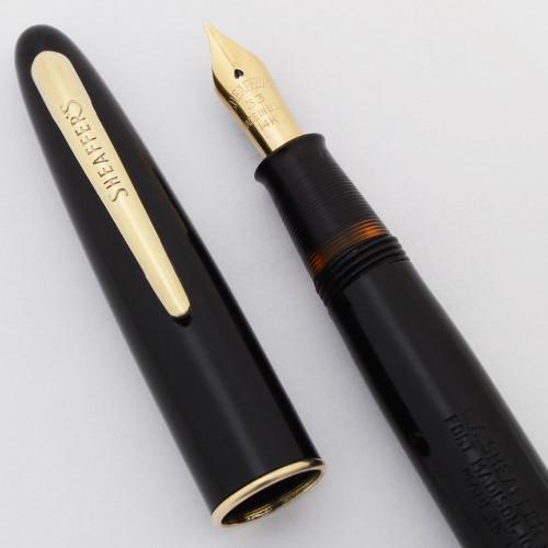 Sheaffer Craftsman Fountain Pen (1940s)- Jet Black, Lever Filler, Medium 14k #33 Nib (Excellent +, Restored)