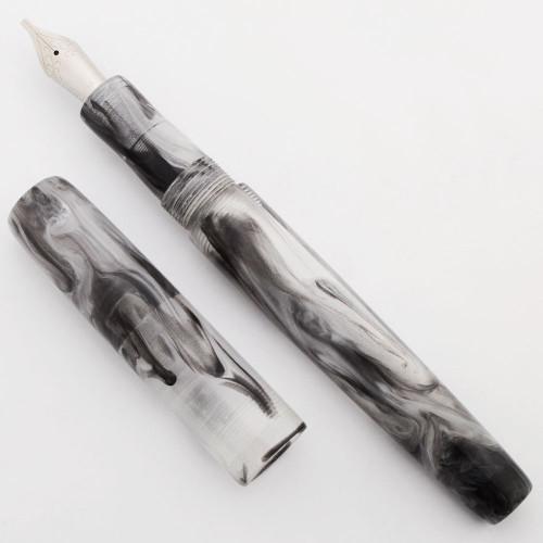 PSPW Prototype Fountain Pen - Film Noir Alumilite, No Clip, JoWo #6 Nib (New)