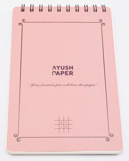 Ayush Paper A4 Notebooks - Top Spiral, Dot/Grid/Lined/Plain, 50 Pages