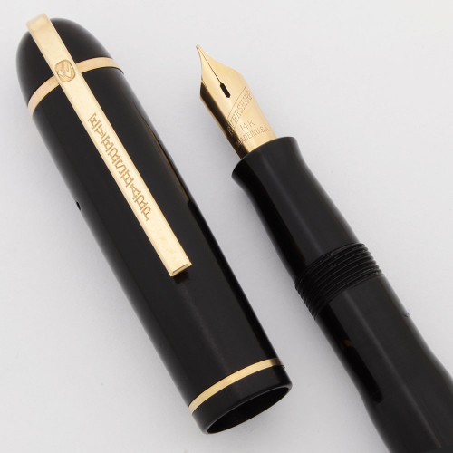 Eversharp Skyline Fountain Pen - Demi, Black Cap & Barrel, Manifold Fine Nib (Excellent, Restored)