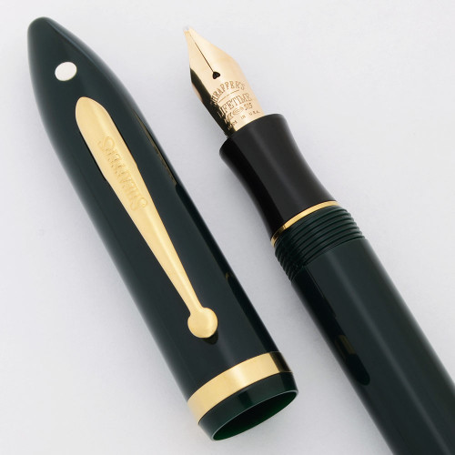 Sheaffer Balance II Fountain Pen (1990s) - Hunter Green, C/C,  Stub 14k Lifetime Nib  (Excellent +, Works Well)