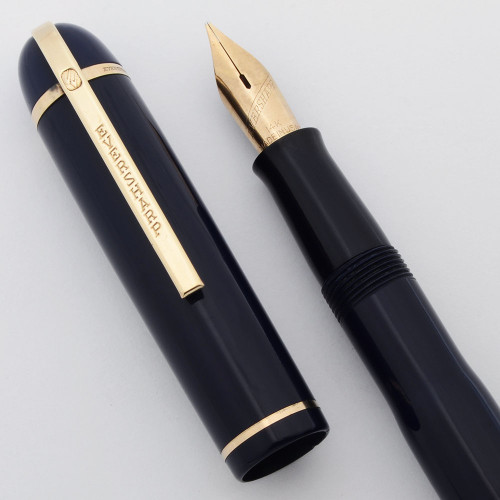 Eversharp Skyline Fountain Pen - Blue Cap & Barrel, Medium  14k Flex (Excellent, Restored)