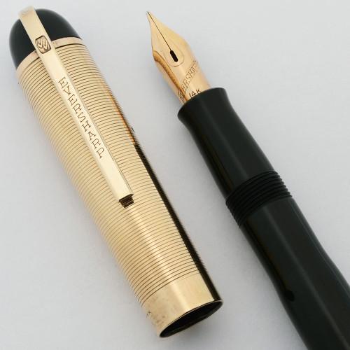 Eversharp Skyline Fountain Pen - Gold Cap, Marine Green Barrel, Flexible Medium 14k (Excellent +, Restored)