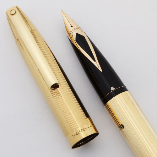 Sheaffer Imperial Triumph Pen (1970s) - Touchdown, Fine 14k Nib (Excellent, Restored)