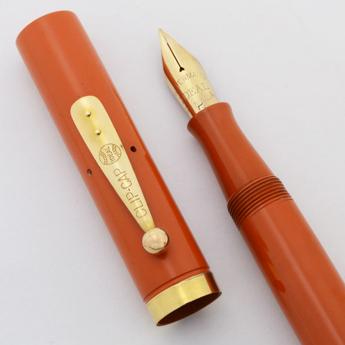 Waterman 55 Fountain Pen -  Byrd Antarctic Expedition (1930s) - Rare Cardinal Hard Rubber, Lever Filler, Full Flex Nib (Excellent, Restored)