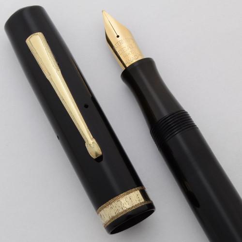 Waterman 7 Fountain Pen (Canada, 1940s) - Black Celluloid, Flexible  Fine 14k Ideal Nib (Excellent, Restored)