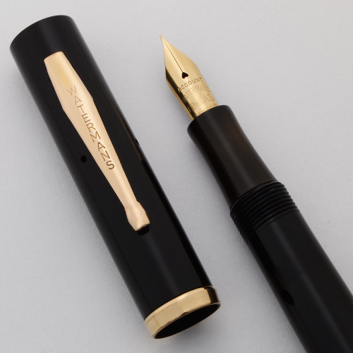Waterman 52 Fountain Pen (Canada) -  Black Celluloid, Extra Fine Account Nib (Excellent, Restored)