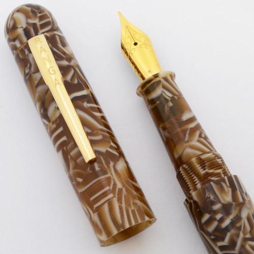 Ranga Premium Acrylic 4C Fountain Pen - Rounded Oversize, German Nibs, Cartridge/Converter/Eyedropper