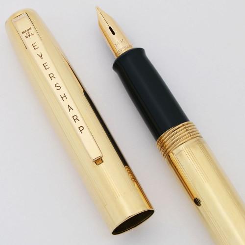 Eversharp Slim Ventura Fountain Pen (1950s)  - Gold Filled, C/C,  Medium 14k Nib (Excellent +, Working Well)